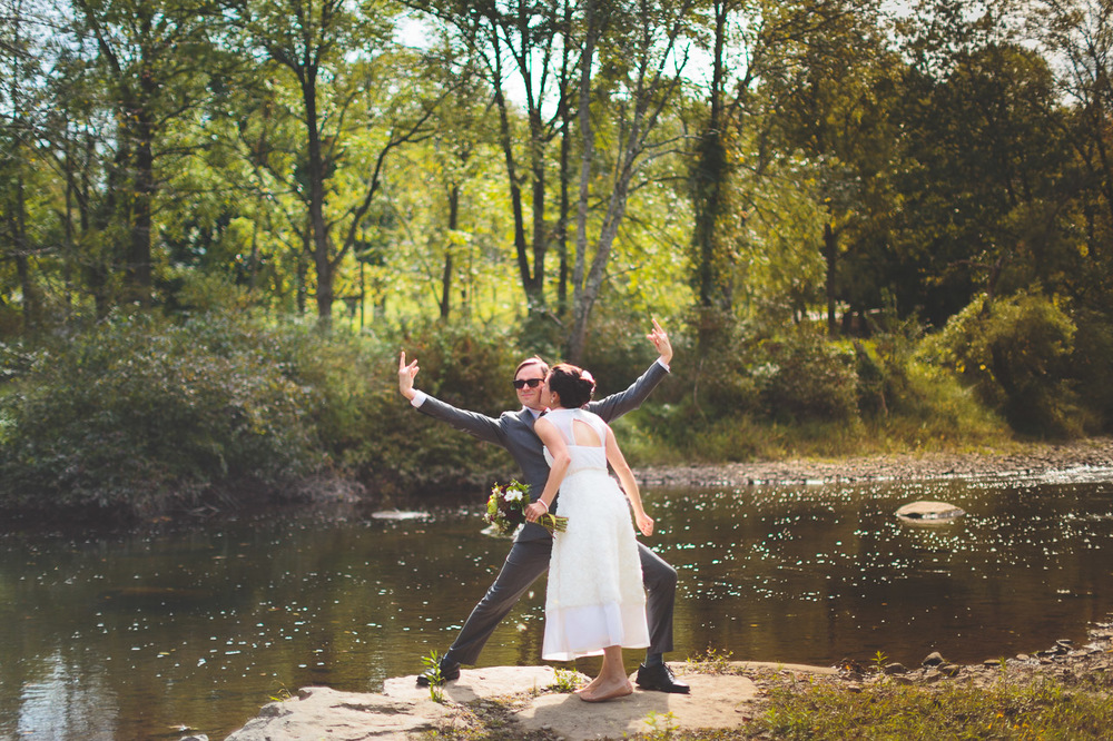 River Wedding Portrait