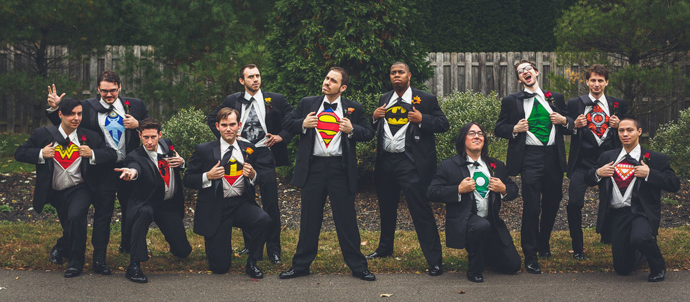 Groomsmen Super Wedding Party