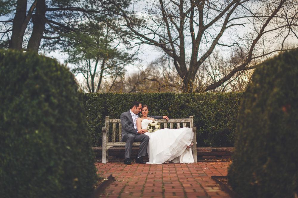 Frelinghuysen Arboretum Wedding Portrait