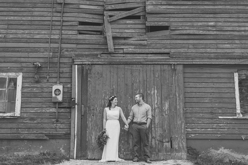 Barn Wedding Portrait