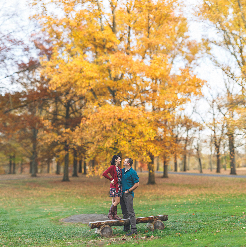 Epic Fall Engagement Photos
