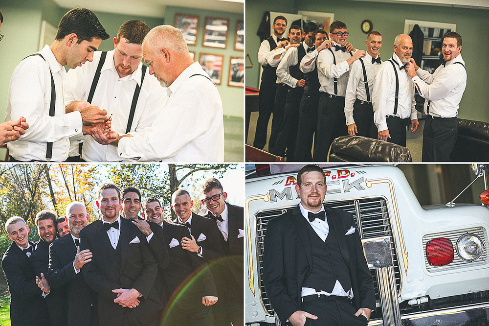 Groom Prep at Allamuchy Firehouse