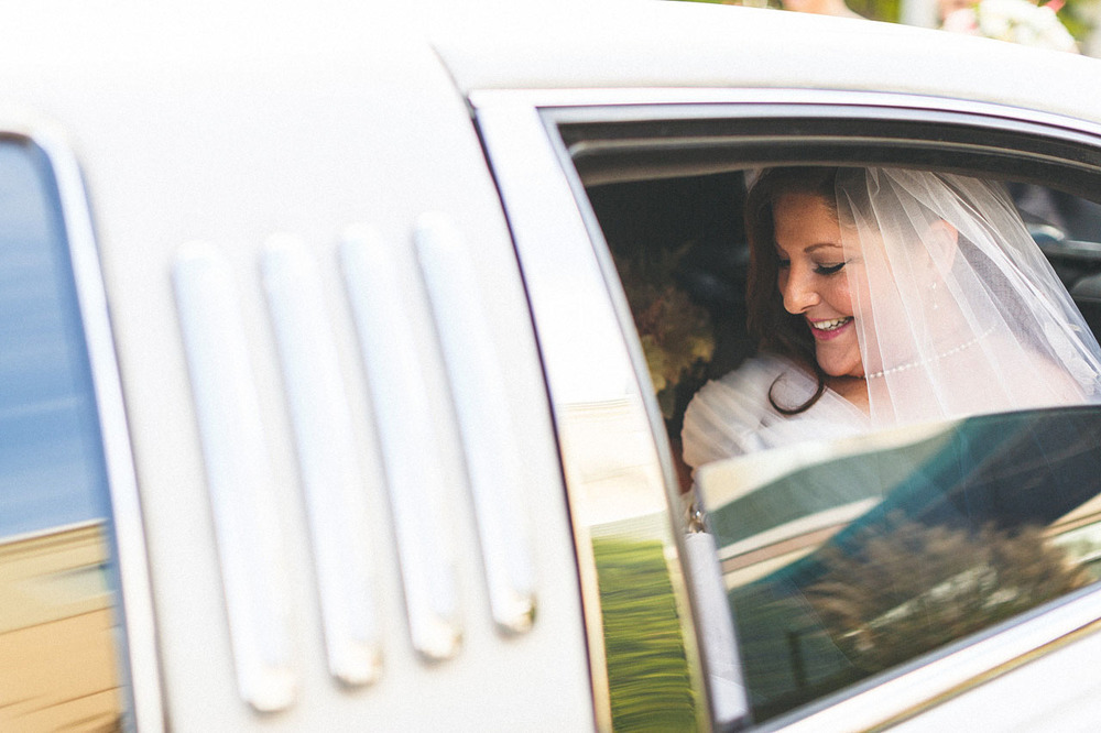 Bride in Limo