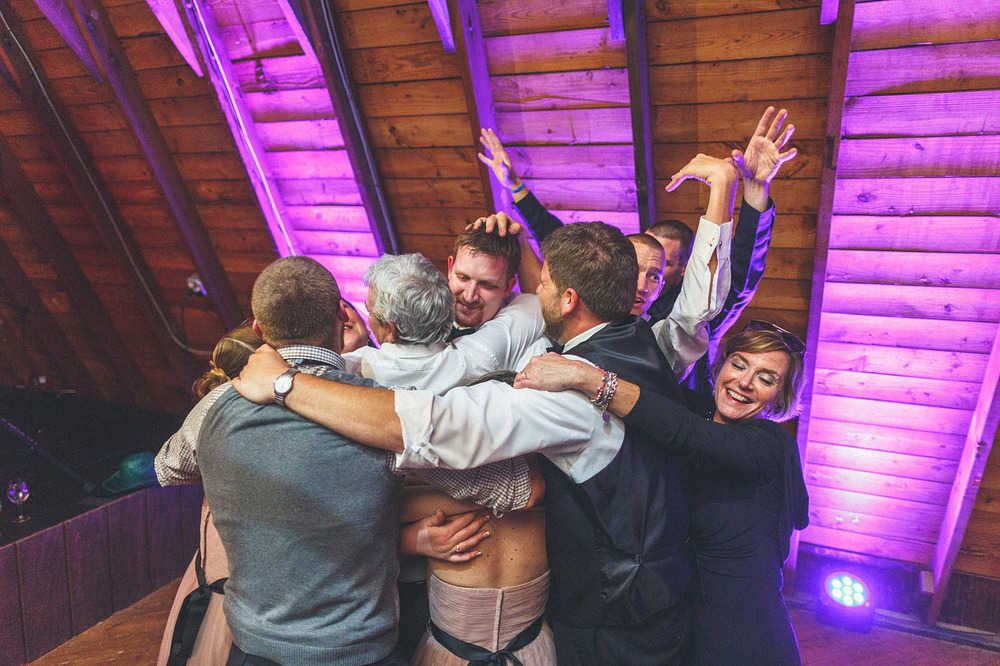 Perona Farms Wedding Hug