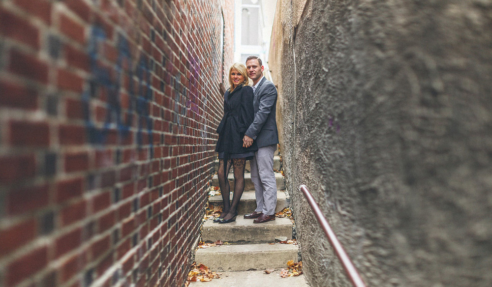Engagement Portrait Alley New Jersey