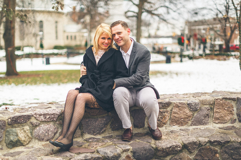 Morristown Green Engagement Portrait