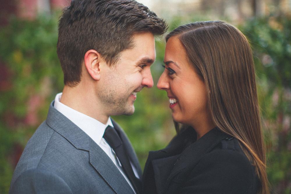 Couple Smiles Hoboken Engagement