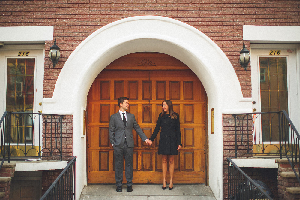 Engagement Photo Wooden Door