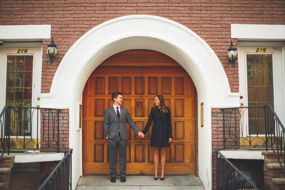 Engagement Photo Wooden Door