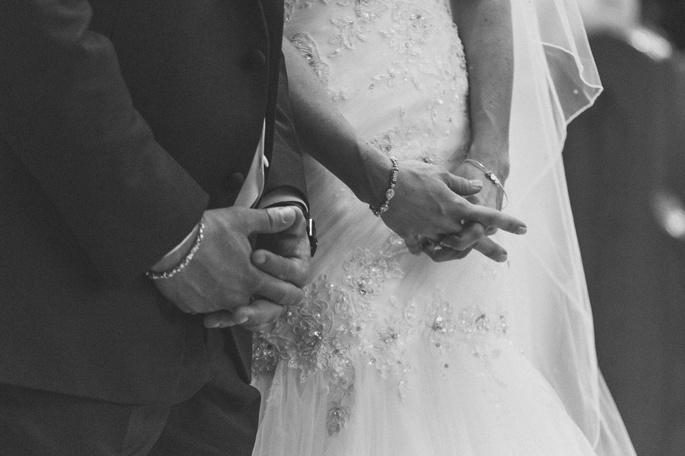 Groom and Bride Hands