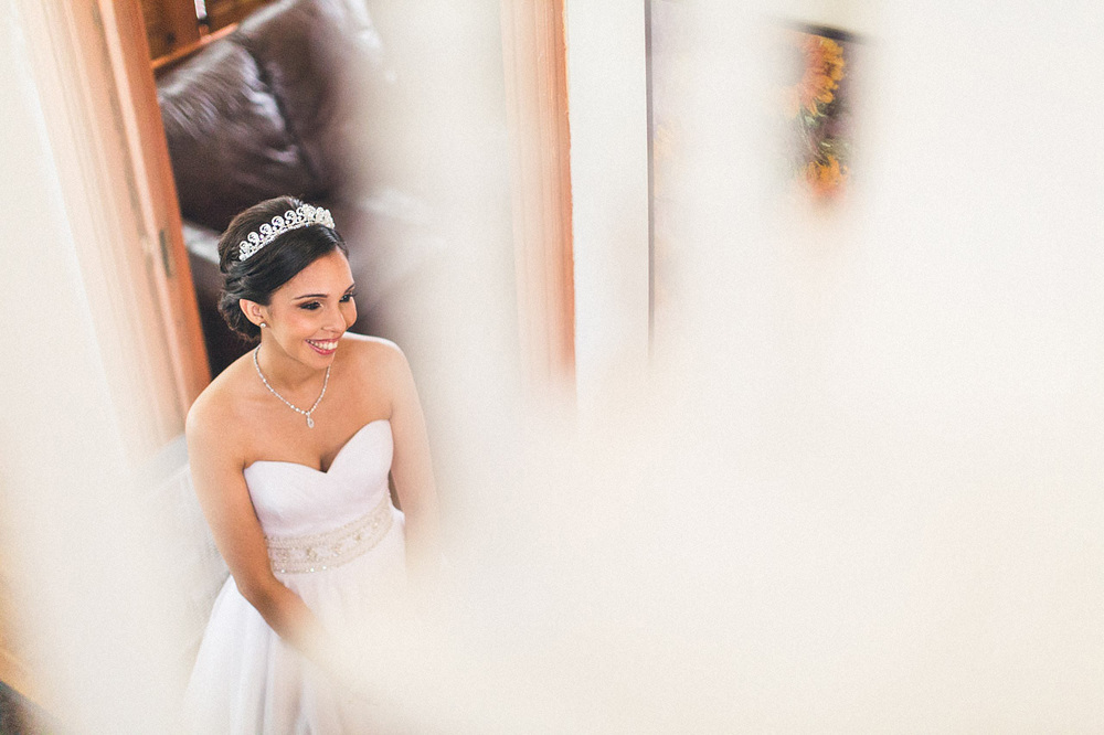 Bride waits