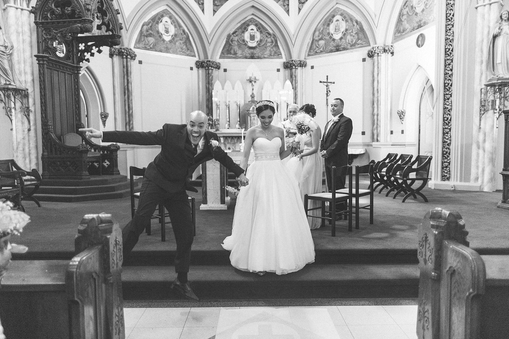 Groom Celebrates Church