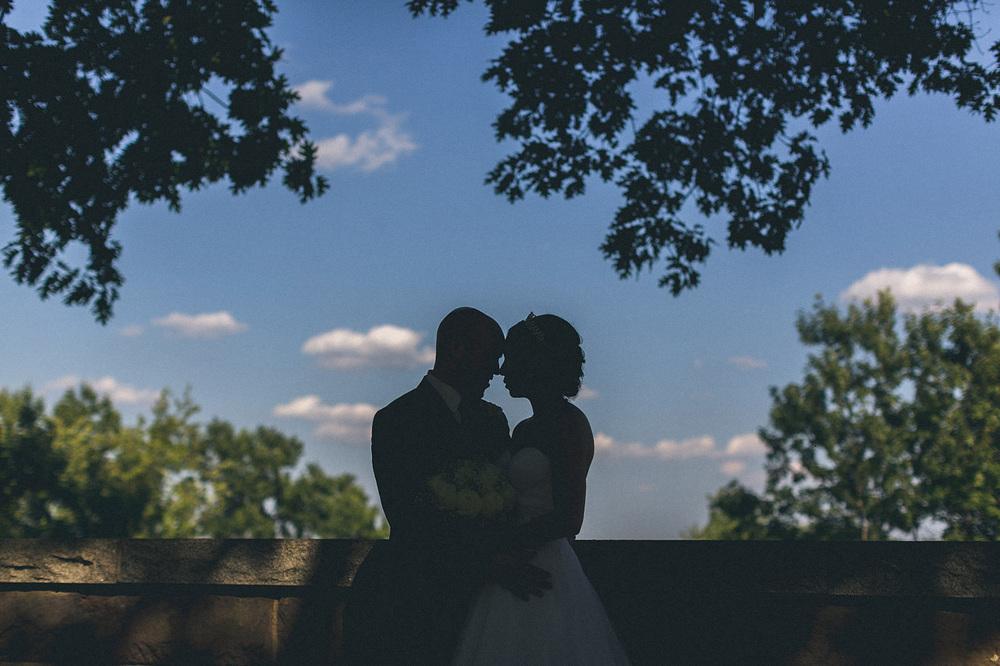 lambert Castle Wedding Portrait