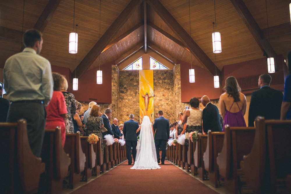 St. Joan of Arc Parish Wedding Ceremony