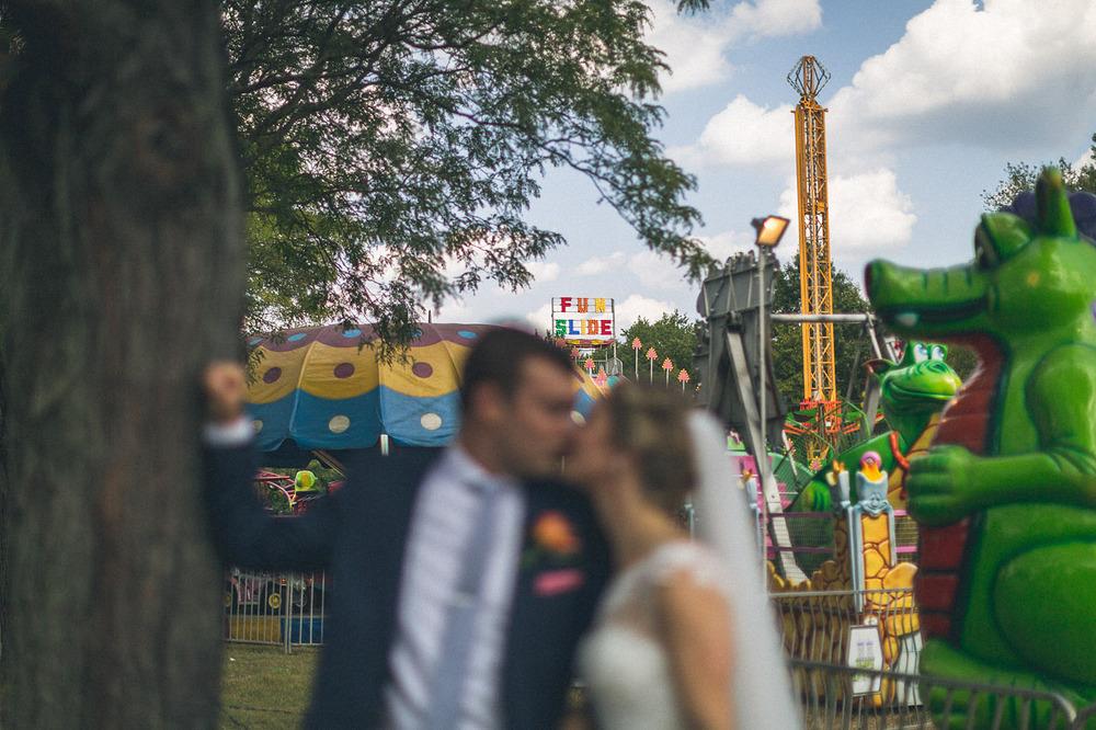 Fun Slide Wedding Portrait