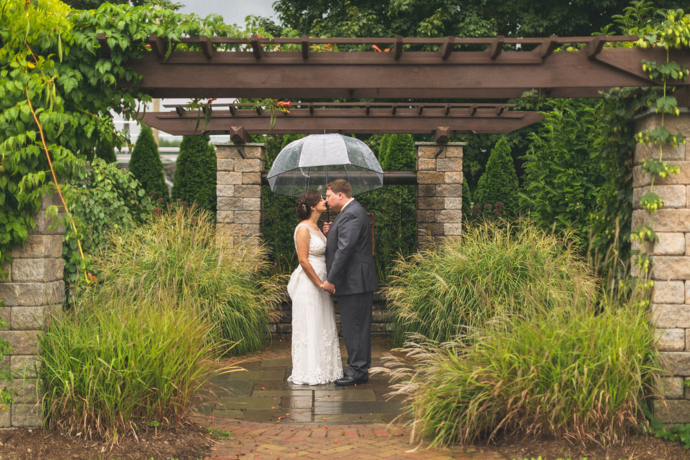 Sussex Conservatory Rain Wedding