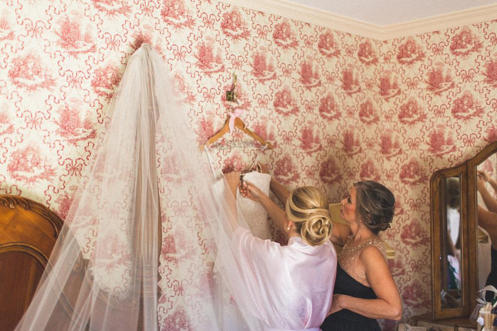 Mom helps Bride get Ready