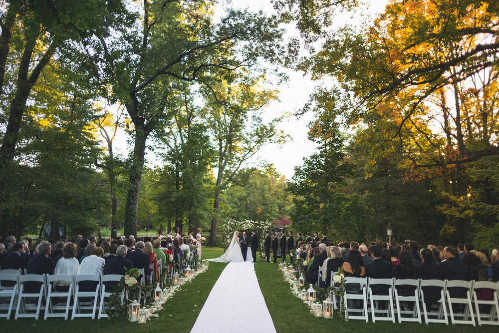Pleasantdale Chateau Outdoor Wedding
