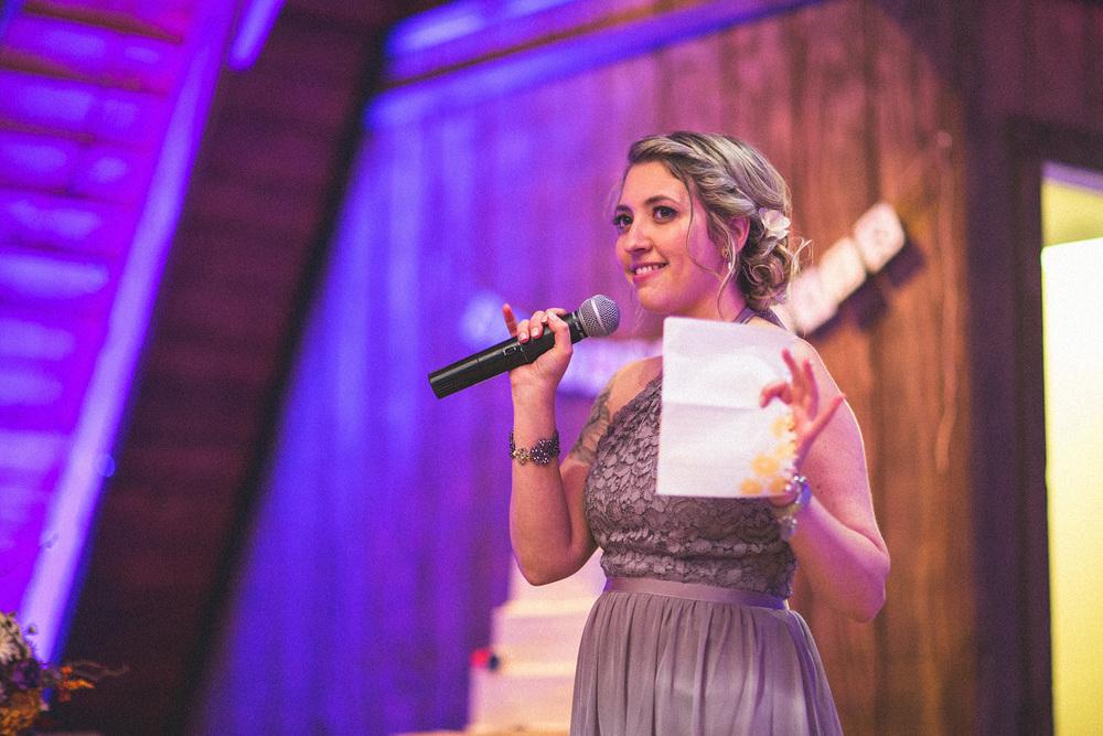 Perona Farms Wedding Speech