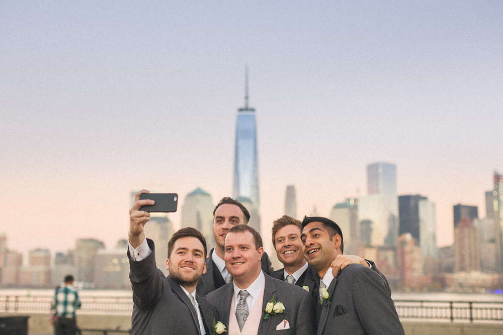 Liberty State Park Wedding Selfie