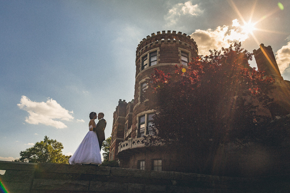 lambert Castle Wedding Portrait