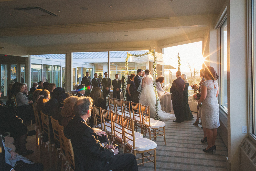 The Garrison Wedding Ceremony Sunset