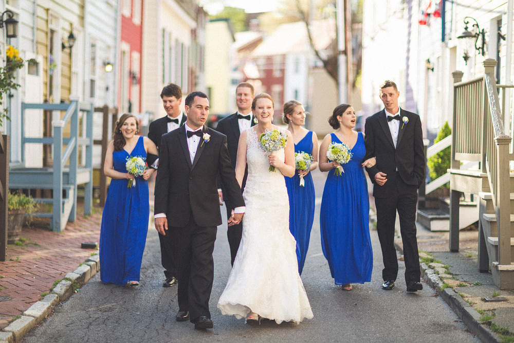 A walk with the bridal Party