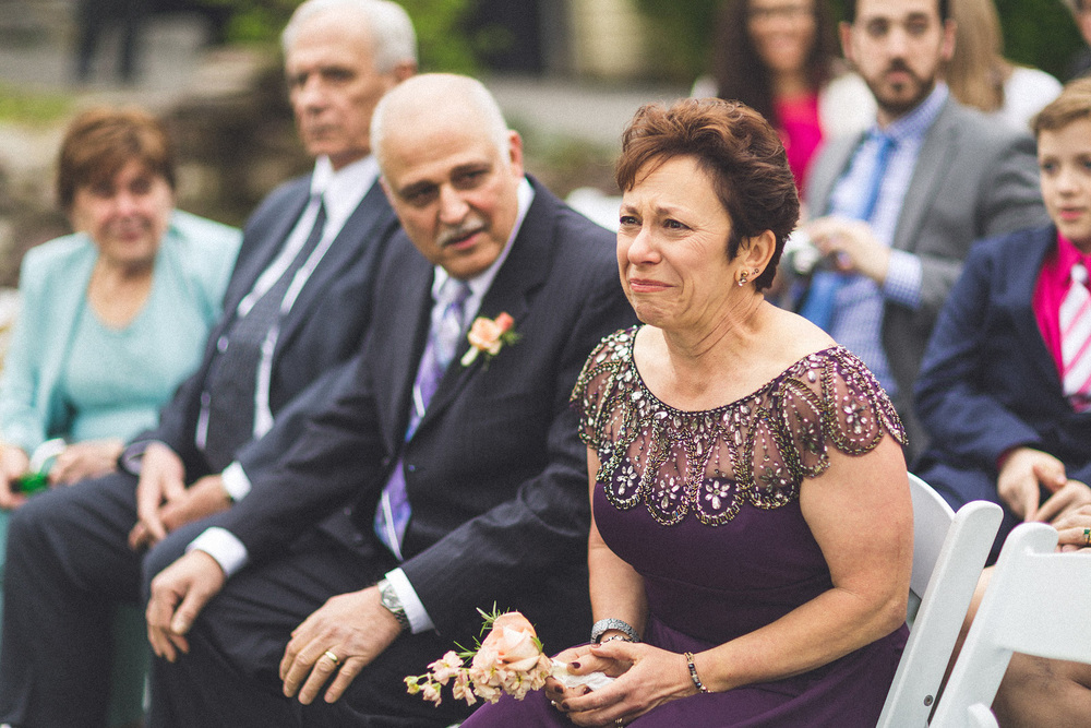 Mom holds back tears seeing groom