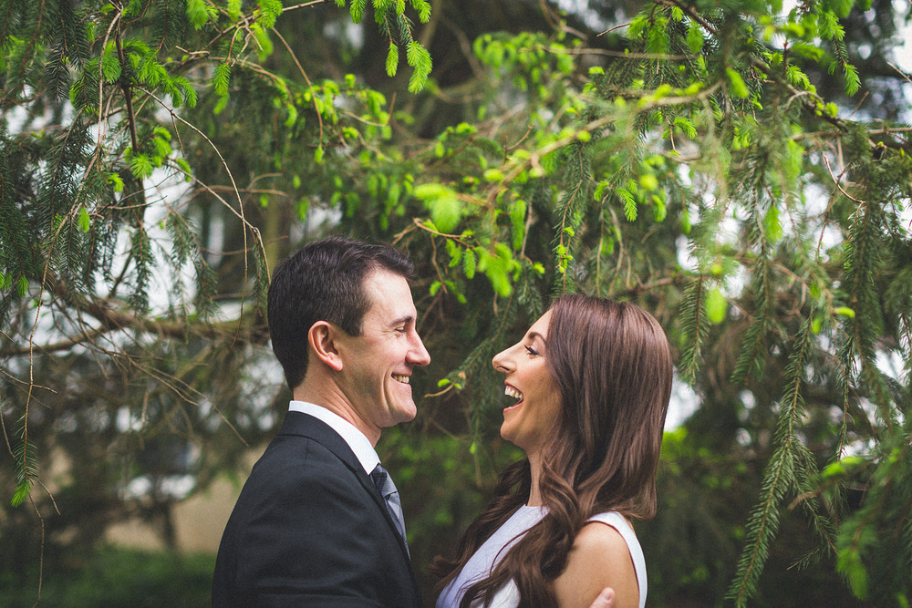 Laughing Wedding Photo