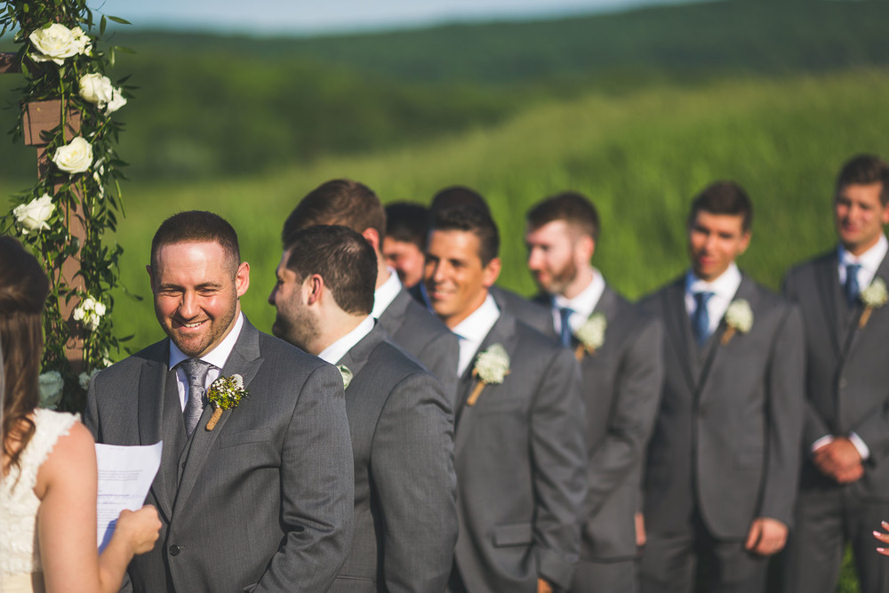 Broom smiles at Brides Vows