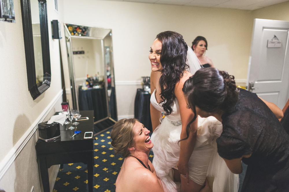 Bride wardrobe fun