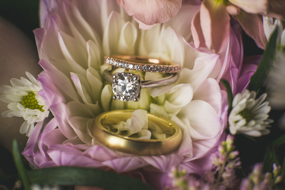 Wedding Rings in Flowers