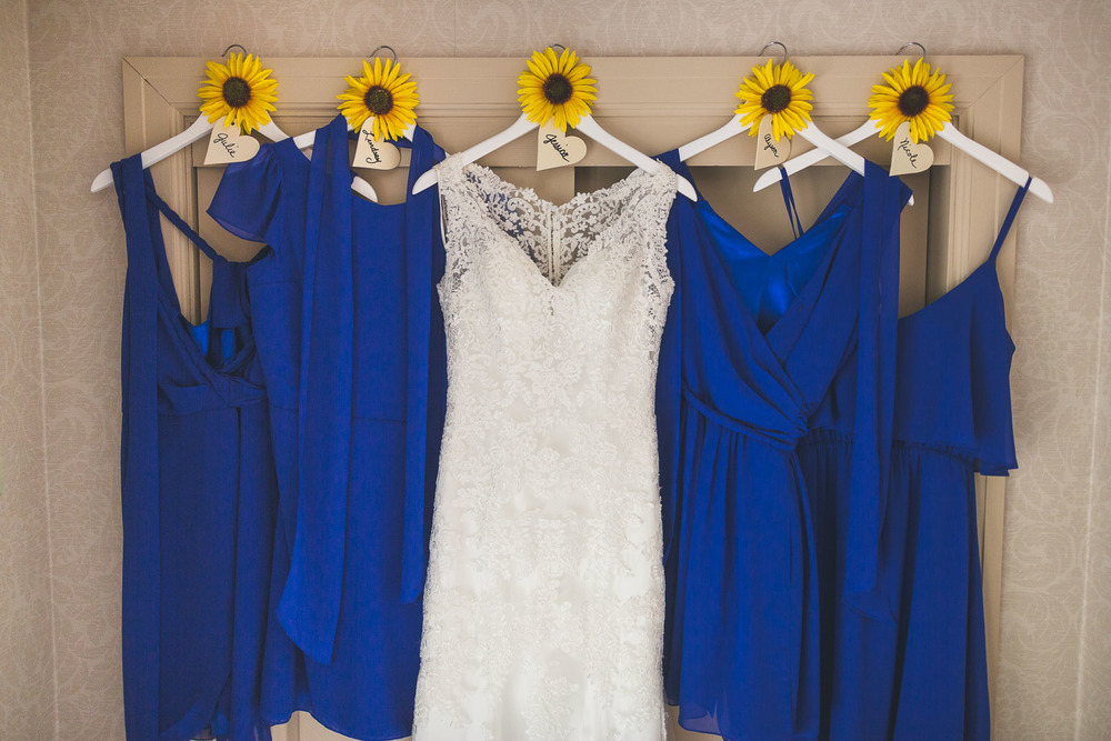 Bride Dresses with Bridesmaid Dresses