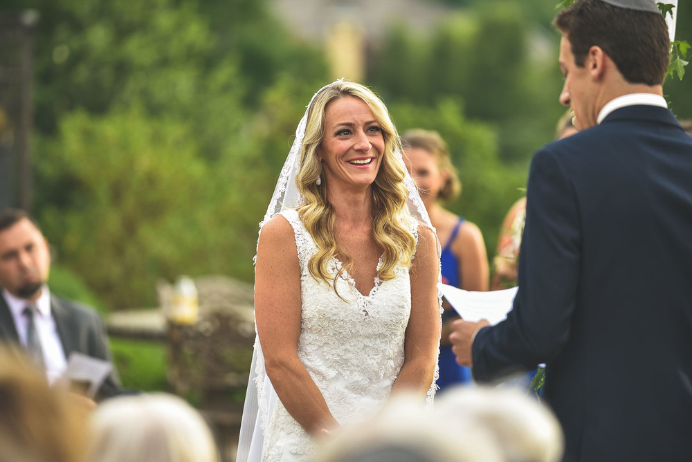 Bride cries at Vows