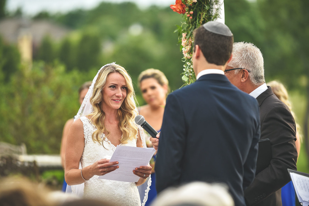 Bride says vows to groom