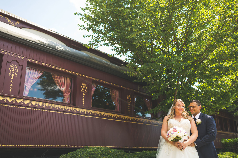 Train Wedding Portrait