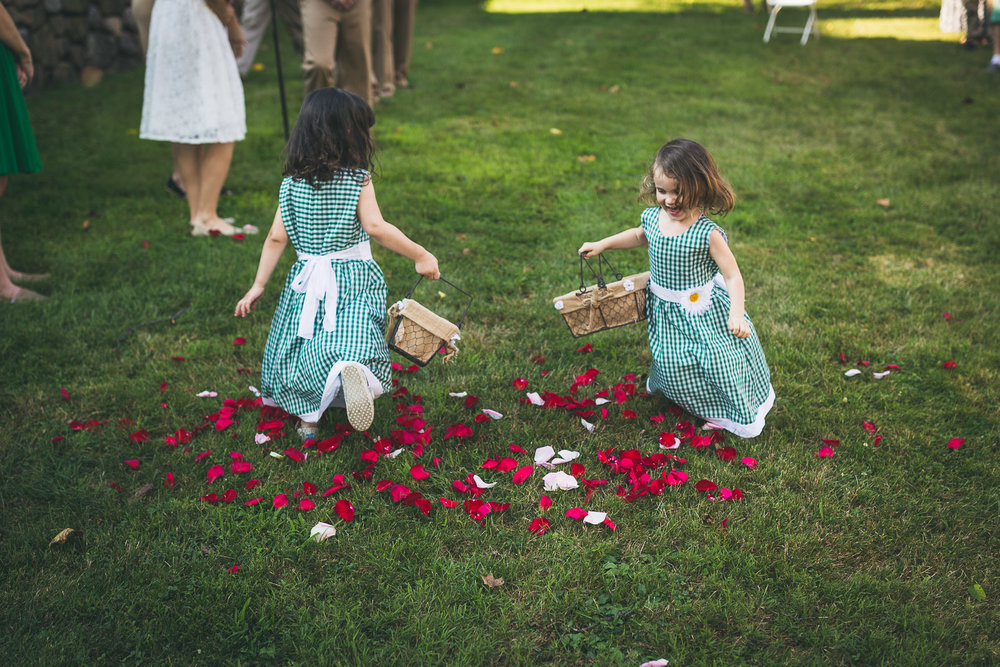 Flower girls having fun