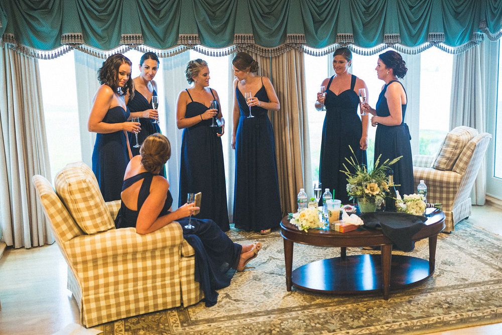 Bridal party waits