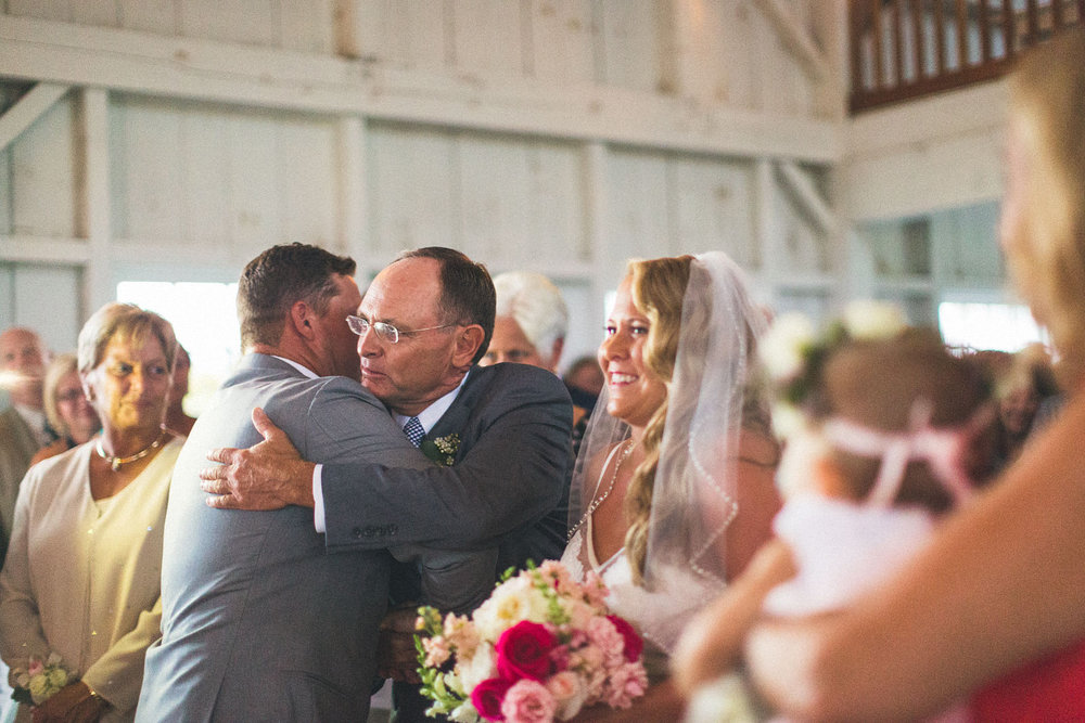 Father hands off Bride