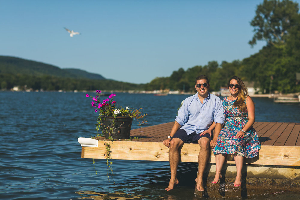 Bird Photo bombs engagement photo