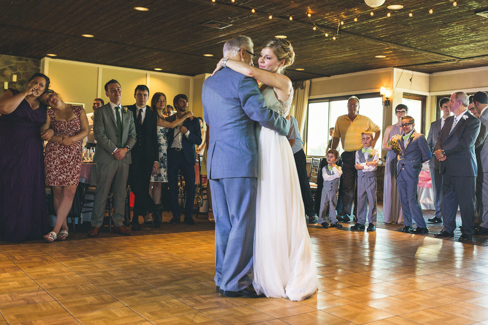 Father dances with bride