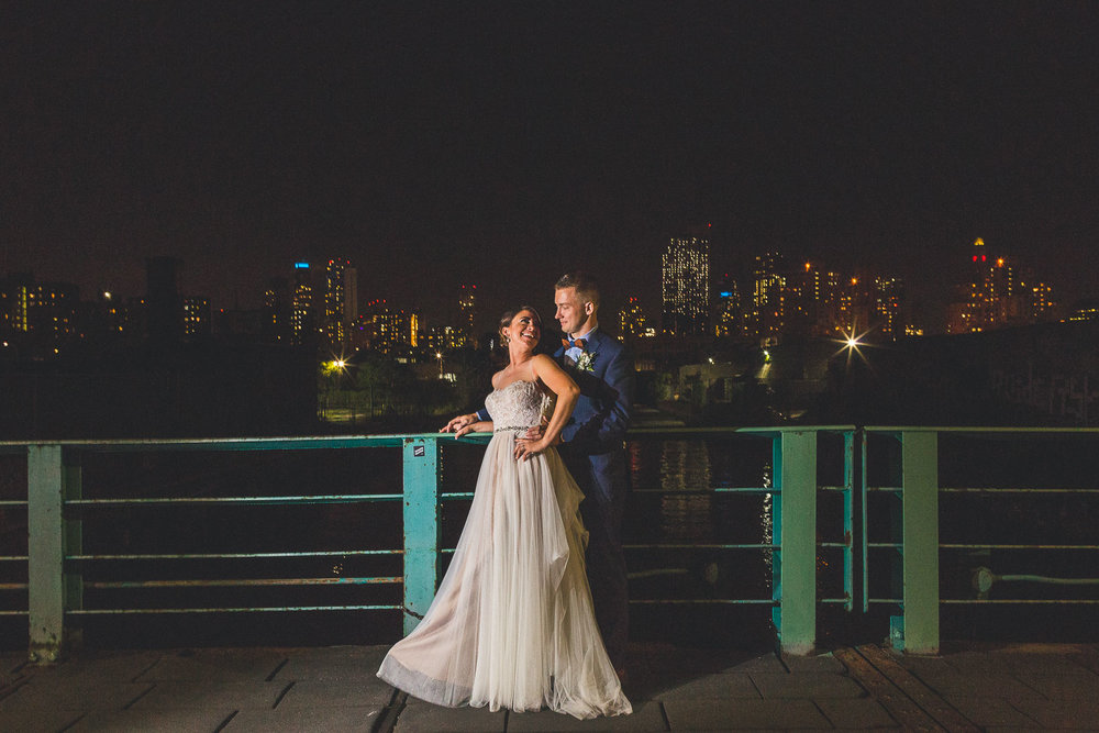 Night Time Photography Wedding Brooklyn NY