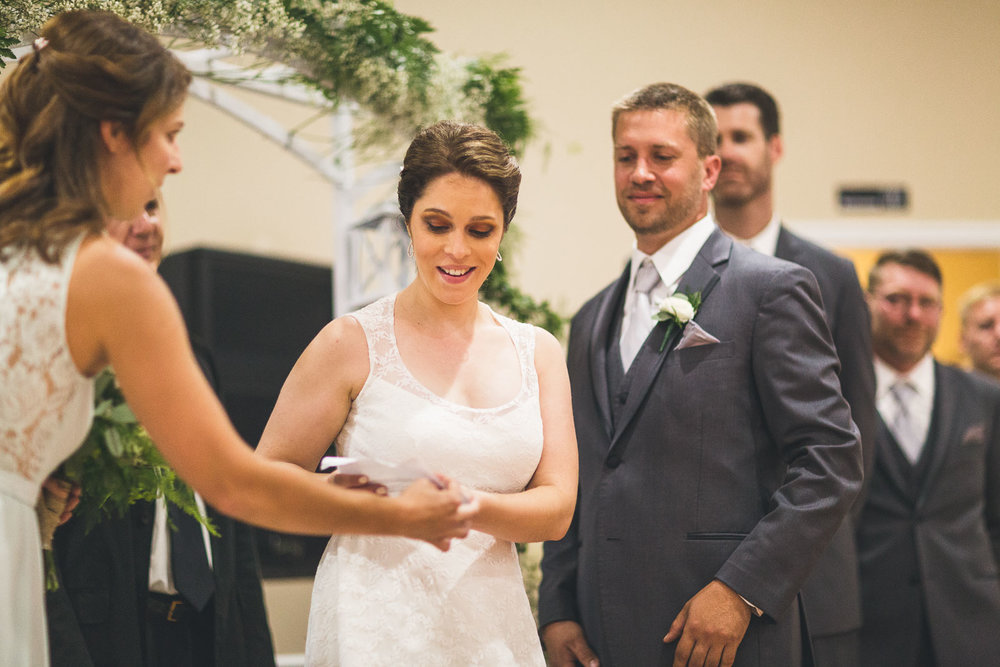 SIster passes vows to bride