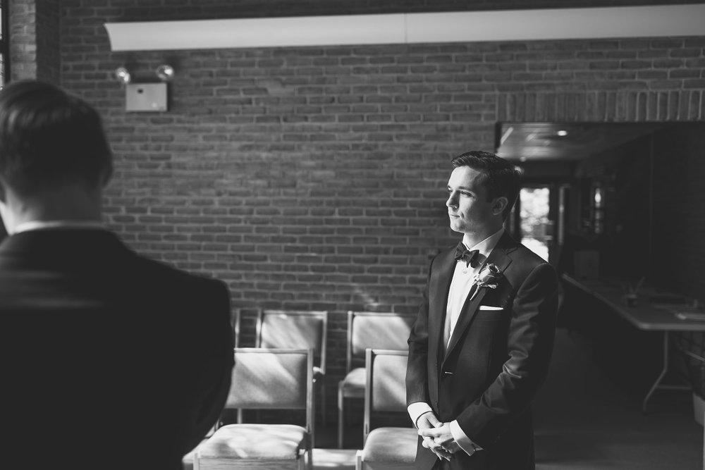 Groom waits for the Bride