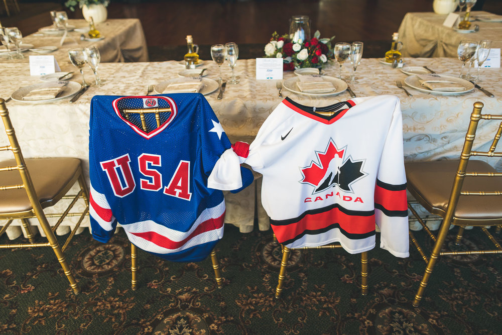 USA vs Canada Hockey Wedding