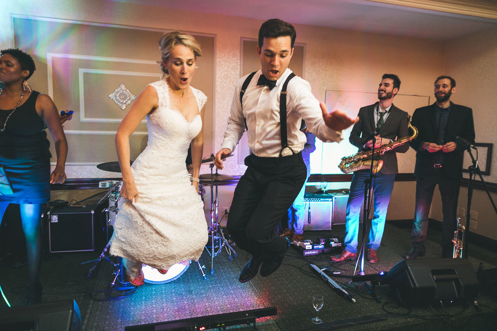Wedding Stage Jump