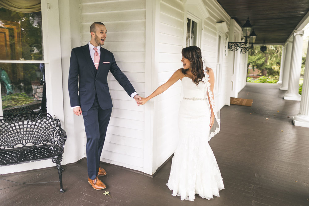 Groom sees bride for first time Photo