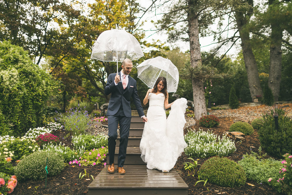Rainy Wedding Day Portrait