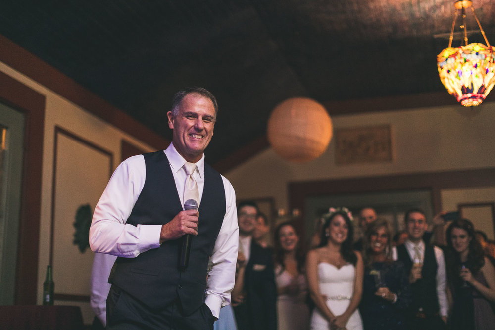 Father of Bride gives Speech