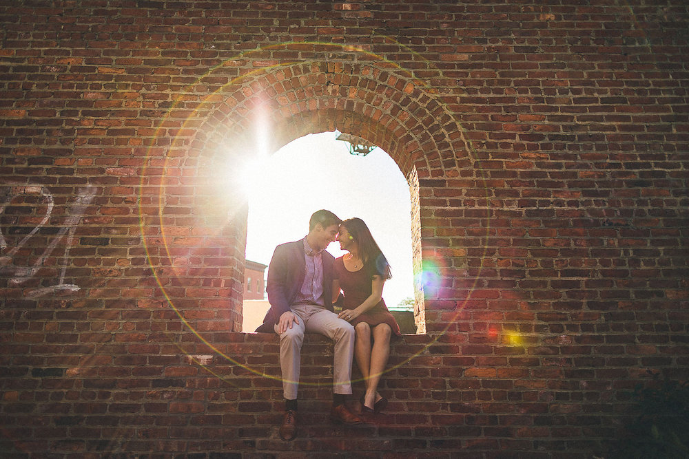 Creative Brooklyn Engagement Photography